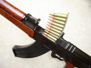 SA vz.58 rifle being reloaded with stripper clip