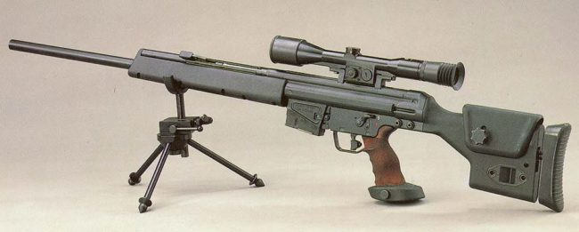 HK PSG1 sniper rifle