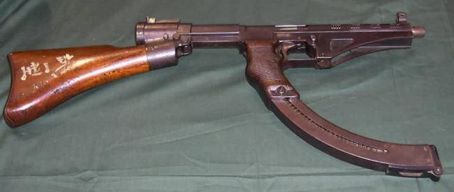 Nambu model I submachine gun