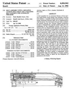 патент Бруно Чиволани 1986 года, на котором базируются большинство современных ружей с инерционной автоматикой
