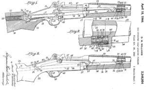 патент на газоотводную автоматику с коротким ходом поршня, использованный в американском карабине М1