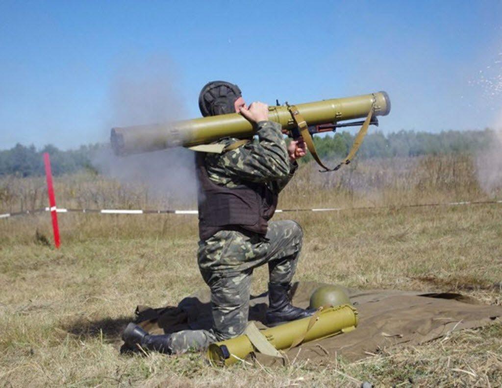 "RPO ""Rys"" (Lynx) rocket flame thrower / launcher, firing"