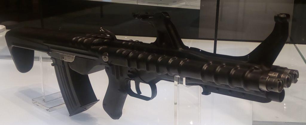 Korobov Device 3B and TKB-059 three barrel assault rifle