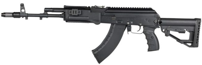 7.62mm Kalashnikov AK-203 assault rifle.