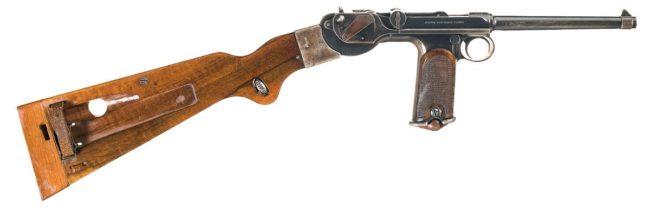 Пистолет Borchard C-93 с кобурой-прикладом