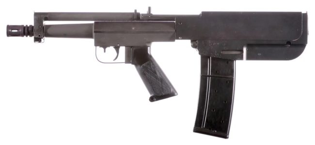 Bushmaster Arm Pistol, 2nd version with safety inside the trigger guard