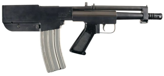 Bushmaster Arm Pistol, 3rd version with safety behind the magazine housing on the left (not visible)