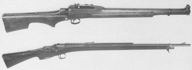 Thorneyecroft (top) and Godsal (bottom) rifles, from around 1905