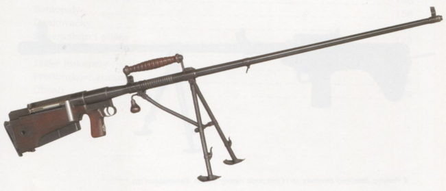 experimental Czechoslovak ZK-382 anti-tank rifle (1938)