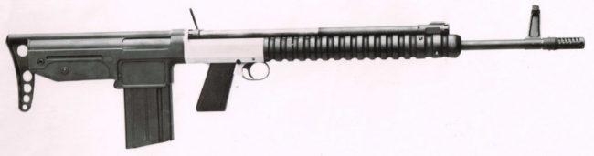 7mm experimental FN FAL bullpup rifle