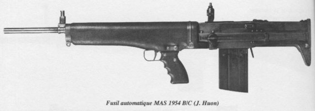 French experimental bullpup assault rifle, designed at MAS in 1954