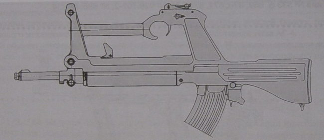 7.62mm Soviet SA-01 experimental assault rifle by Konstantinov, 1963