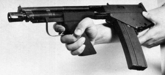 5.6mm experimental IMP-221 personal defense weapon, designed in USA for US Air Force, 1969