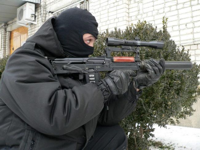 Russian OTs-14 Groza bullpup rifle
