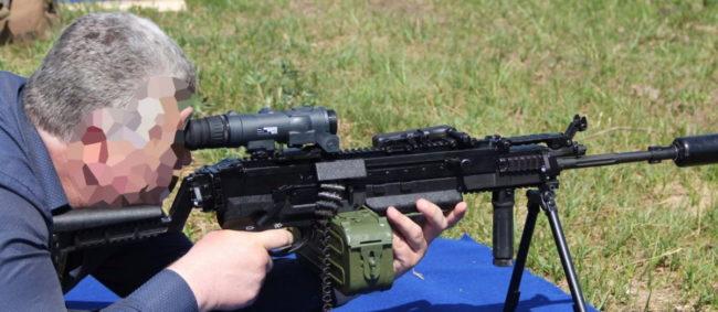 Kord-5.45 Light Machine Gun with belt