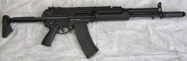 The 5.45x39mm A545 6P67 assault rifle, production variant