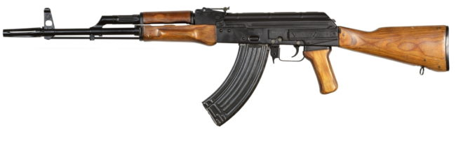 Kalashnikov AKML rifle with side rail for night sight and a special flash hider